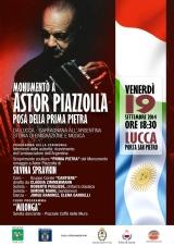 Silvina Spravkin | Monumento a Astor Piazzolla | Posa della Prima Pietra, Venerdi 19 Settembre,2014